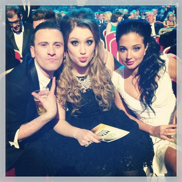 Tulisa tweeted this photo of her with her X Factor protégée Ella Henderson as they enjoyed the NTAs. Copyright [Tulisa]