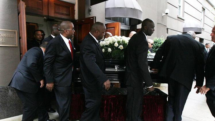 Casket Carried Out The Frank Campbell Funeral Chapel