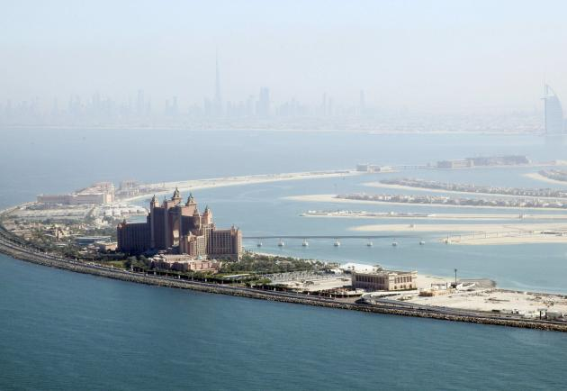 A general view of Atlantis resort in Dubai