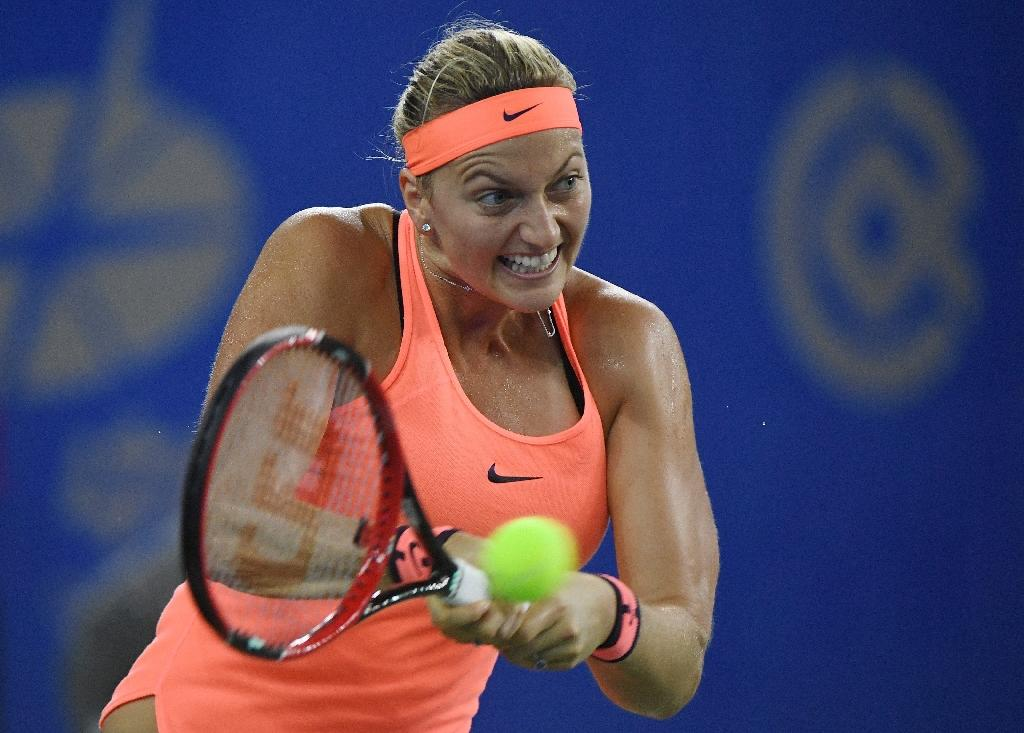 On-form Kvitova beats Halep to reach Wuhan final