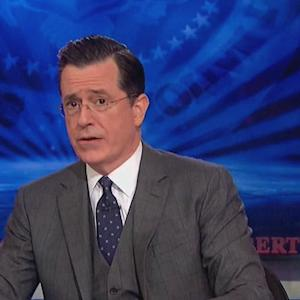 Stephen Colbert signs off with star-studded sing-along