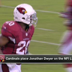 The Arizona Cardinals place Jonathan Dwyer on NFI list