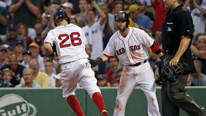 Boston's Holt scores twice in 2-1 win over Twins