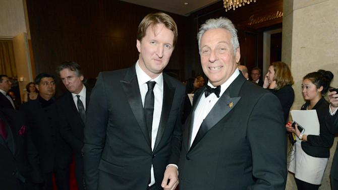 Tom Hooper, left, and president of the Academy of Motion Picture Arts and Sciences Hawk Koch arrive at the 24th Annual Producers Guild (PGA) Awards at the Beverly Hilton Hotel on Saturday Jan. 26, 2013, in Beverly Hills, Calif. (Photo by Jordan Strauss/Invision for The Producers Guild/AP Images)