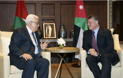 Jordan's King Abdullah meets with Palestinian President Mahmoud Abbas in Amman