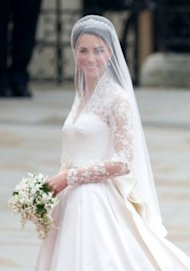 We'd love to see Kate Middleton's wedding gown up close. Photo by Getty Images
