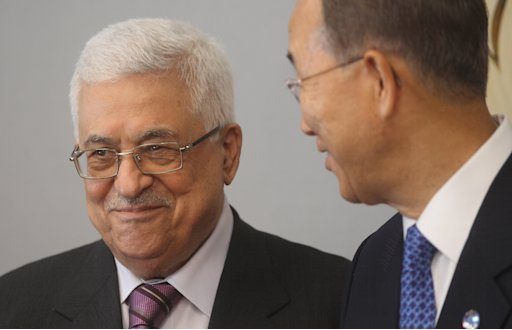 Palestinian Leader Abbas Meets With Ban Ki-Moon At UN