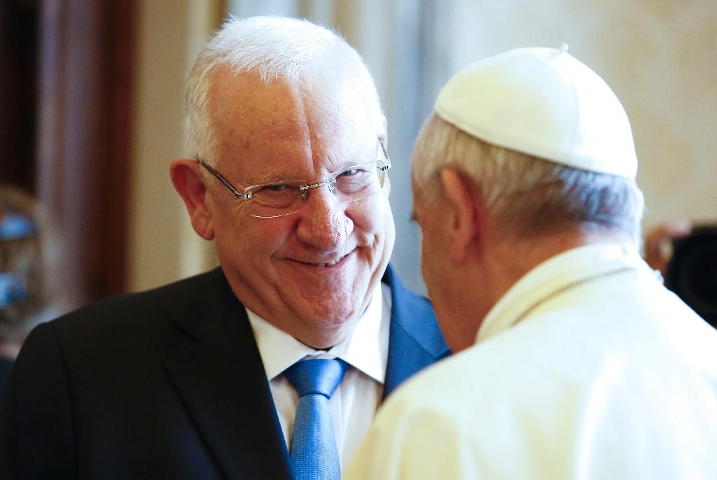 Pope receives Israel's Rivlin amid tensions