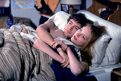 "Eric (Topher Grace, L) and Donna (Laura Prepon, R) get cozy for the first time on the ""Sleepover"" episode of Fox's That 70s Show"