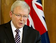 "Australia's foreign minister Kevin Rudd (pictured) launched a fierce broadside at Europe Saturday, saying the financial crisis has caused it to turn in on itself and warning it risked an ""early grave"" amid Asia's rise"