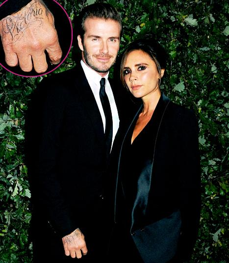 "David Beckham Gets ""Victoria"" Tattoo on Hand: Picture"