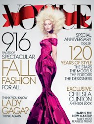 Lady Gaga on the cover of Vogue's September 2012 issue -- Vogue
