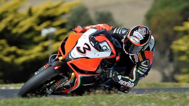 Max Biaggi in action