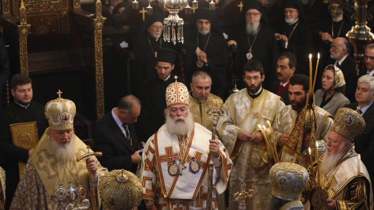 Ecumenical Patriarch Bartholomew I leads a special Sunday mass following the Synaxis at the Patriarchal Church of St. George in Istanbul