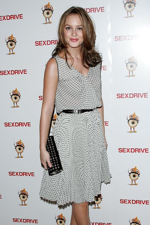 Leighton Meester attends the premiere of &quot;Sex Drive&quot; at the Tribeca Grand Hotel on October 12, 2008 in New York City, New York. 