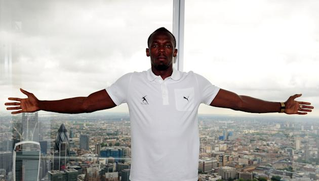 Athletics - Sainsbury's Anniversary Games - Usain Bolt and James Desaolu Photocall - The Shard