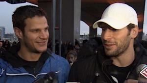 Kevin Bieksa, left, and Ryan Kesler put together the spontaneous game Wednesday.