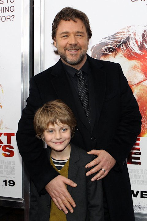 The Next Three Days 2010 NY Premiere Russell Crowe Ty Simpkins