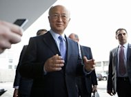 International Atomic Energy Agency (IAEA) Director-General Yukiya Amano arrives prior to his flight to Teheran in Schwechat, some 25 kilometers east of Vienna. Amano, arrived in Tehran to demand more cooperation from Iran on its nuclear activities, as Tehran prepares to engage with world powers in crucial talks in Baghdad over its controversial nuclear programme