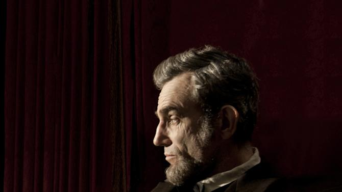 "This publicity film image released by DreamWorks and Twentieth Century Fox shows Daniel Day-Lewis portraying Abraham Lincoln in the film ""Lincoln.""  (AP Photo/DreamWorks and Twentieth Century Fox, David James)"