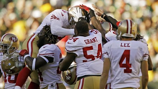 2012, David Akers celebration, San Francisco 49ers, Ap/LaPresse