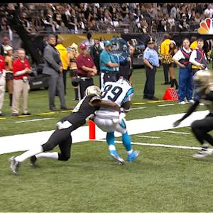 Carolina Panthers wide receiver Steve Smith 17-yard touchdown