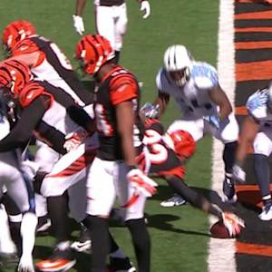 Cincinnati Bengals running back Jeremy Hill 4-yard touchdown run