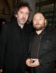 "This image released by Starpix shows producer Tim Burton, left, and director Timur Bekmambetov at the premiere of Twentieth Century Fox film, ""Abraham Lincoln: Vampire Hunter,"" Monday, June 18, 2012 in New York. The film opens nationwide on June 22. (AP Photo/Starpix, Dave Allocca)"