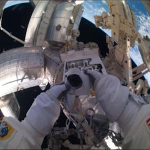 With Makeshift Snorkels, NASA Astronauts Start Spacewalk