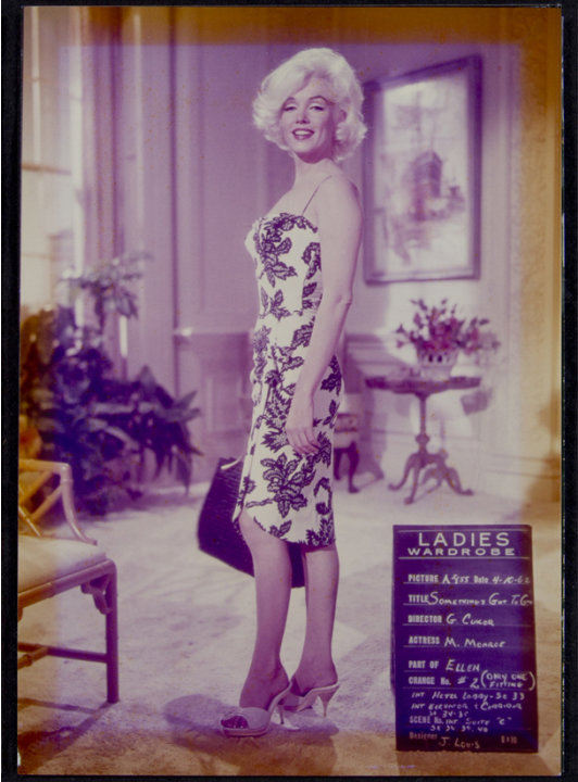 "This image, taken in 1962, shows   Marilyn Monroe on the set of ""Something's Got to Give."" This item is part of Julien's Auctions Hollywood Legends being held on Saturday, March 31, 2012 and Sunday Ap"