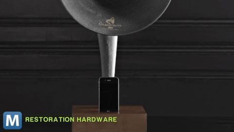 Listen to Your iDevice in Style with an Actual Gramophone