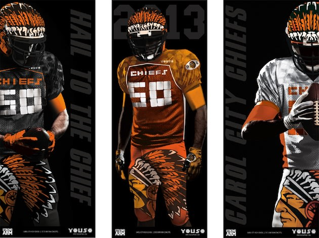 Carol City's new uniforms for the 2013 season, at the behest of Flo Rida &#x002014; Twitter
