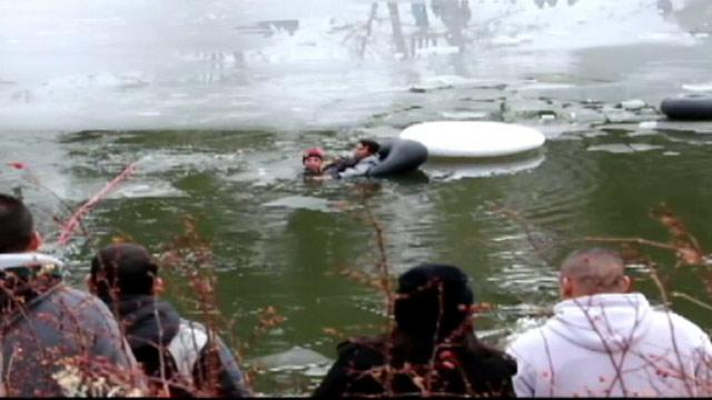 Dramatic Ice Rescue Caught on Tape