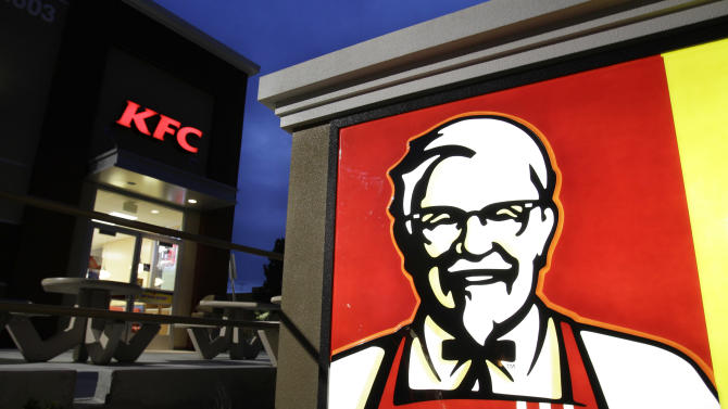 FILE - This April 18, 2011, file photo, shows Yum Brand's KFC restaurant in Mountain View, Calif. Yum Brands Inc. reports quarterly financial earnings, Tuesday, Oct. 8, 2013, after the market closes. (AP Photo/Paul Sakuma, File)