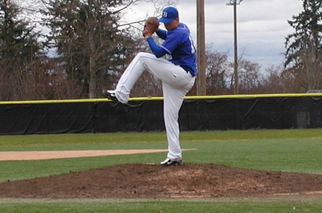 Bothell pitcher Travis Dohr, who hit a long-awaited homer against O'Dea — BeRecruited