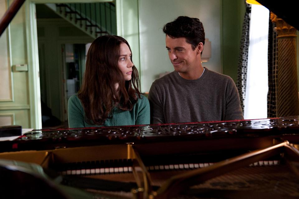 "This film image released by Fox Searchlight Pictures shows Mia Wasikowska, left, and Matthew Goode in a scene from ""Stoker."" (AP Photo/Fox Searchlight Pictures)"