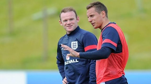 Phil Jagielka, right, is likely to feature in England's upcoming friendlies