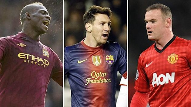 Ballon d'Or shortlist 2012 - Balotelli, Messi, Rooney