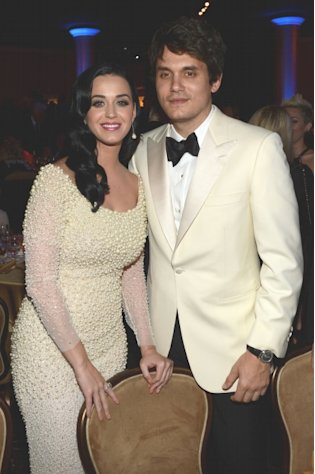 Katy Perry and John Mayer are seen at the 55th Annual GRAMMY Awards Pre-GRAMMY Gala and Salute to Industry Icons honoring L.A. Reid held at The Beverly Hilton on February 9, 2013 in Los Angeles -- Getty Premium
