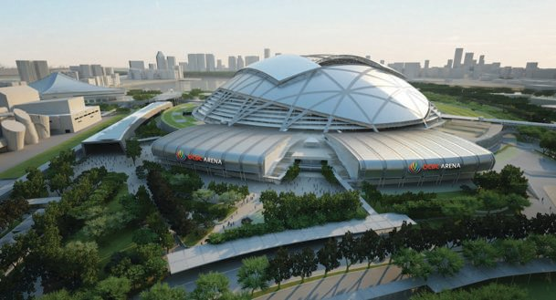 An impression of the OCBC Arena in the Singapore Sports Hub. (Sports Hub Photo)