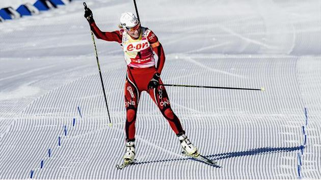 Biathlon - Berger wins maiden World Cup title with Oslo hat-trick