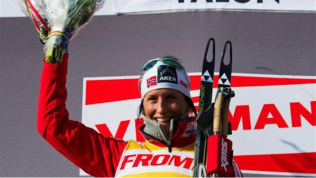 Cross-Country Skiing - Bjoergen makes it three in Kuusamo