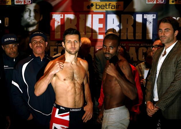 Carl Froch and Yusaf Mack - Weigh In