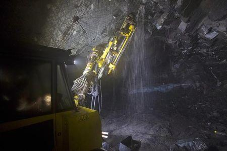 Drilling operations at a depth of 516 metres below the surface at the Chibuluma copper mine
