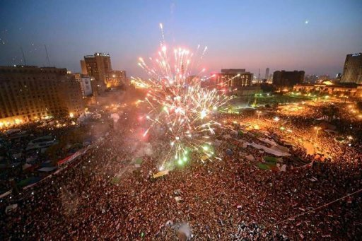 &lt;p&gt;Egyptians set off fireworks in Cairos Tahrir Square. Tens of thousands packed into Cairo&#39;s Tahrir Square on Sunday in the largest celebration the protest hub has witnessed since Hosni Mubarak&#39;s ouster, to celebrate their new president-elect, Mohamed Morsi.&lt;/p&gt;