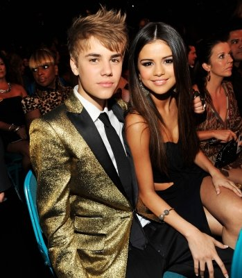 Justin Bieber and Selena Gomez spotted during the 2011 Billboard Music Awards at the MGM Grand Garden Arena in Las Vegas on May 22, 2011  -- Getty Premium