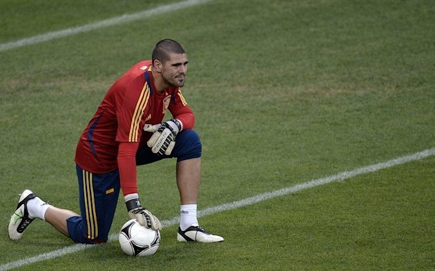 Spanish goalkeeper Victor …