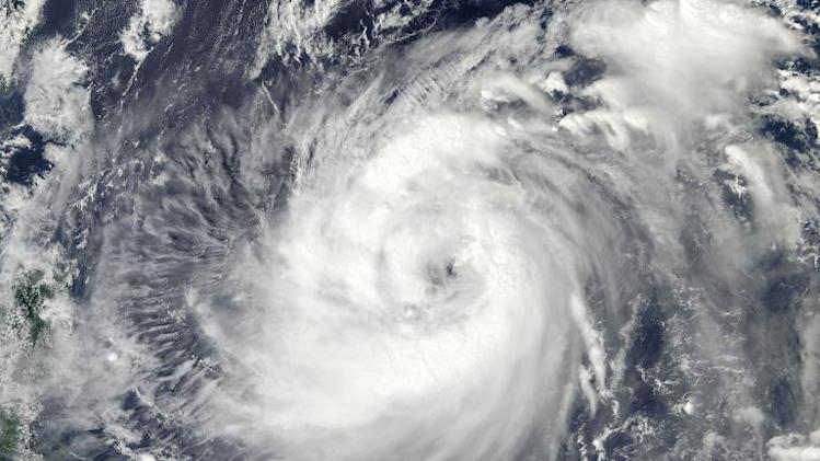 A NASA satellite image shows Typhoon Fitow in the Pacific Ocean on October 2, 2013