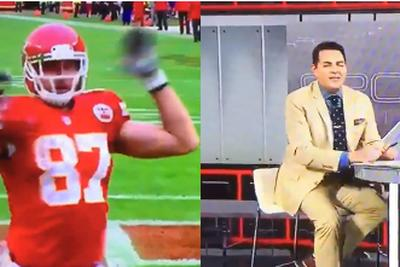 ESPN's Robert Flores says Travis Kelce isn't criticized for dancing like Cam Newton 'because he's not black'