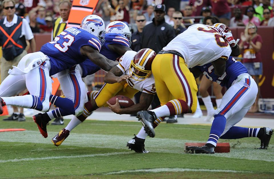 Kolb injured as Bills fall to Redskins 30-7